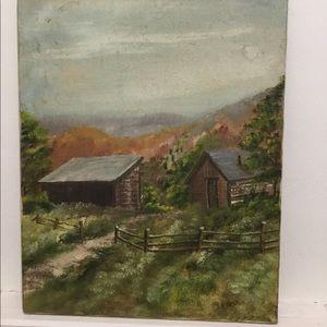 Ulakovic Artist ANTIQUE Oil Painting VINTAGE 1900s